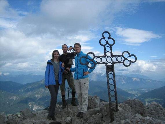 Am Gipfel mit Blickrichtung nach Norden