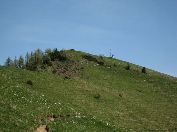 Der letzte kurze Anstieg hinauf zum Kleinen Frauenkogel, bevor es zurück ins Tal geht