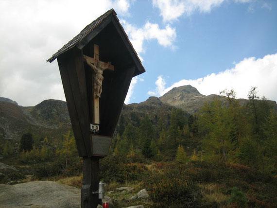 Knapp oberhalb der Lienzer Hütte