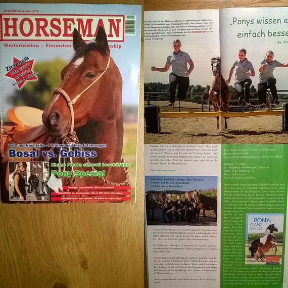 Großes Pony Spezial mit dem Team Shetty-Sport in der Zeitschrift Horseman!