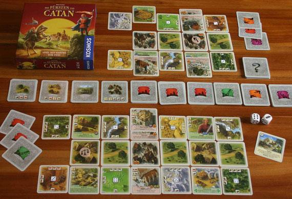 Die Fürsten von Catan von Kosmos für 2 Spieler; Autor: Klaus Teuber