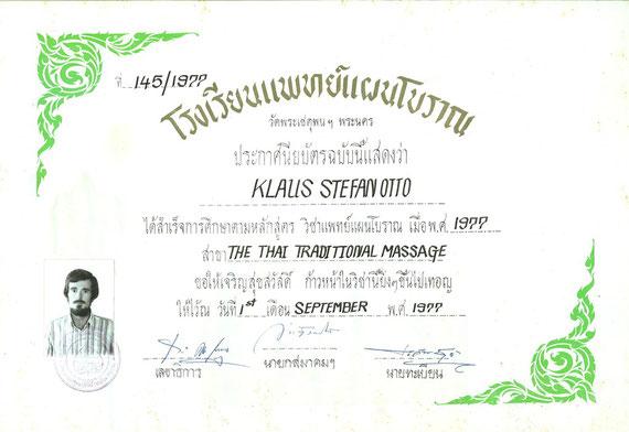 Zertifikat Thai-Massage