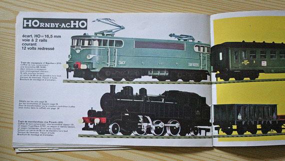 Briochure train électrique HOrnby-acHO