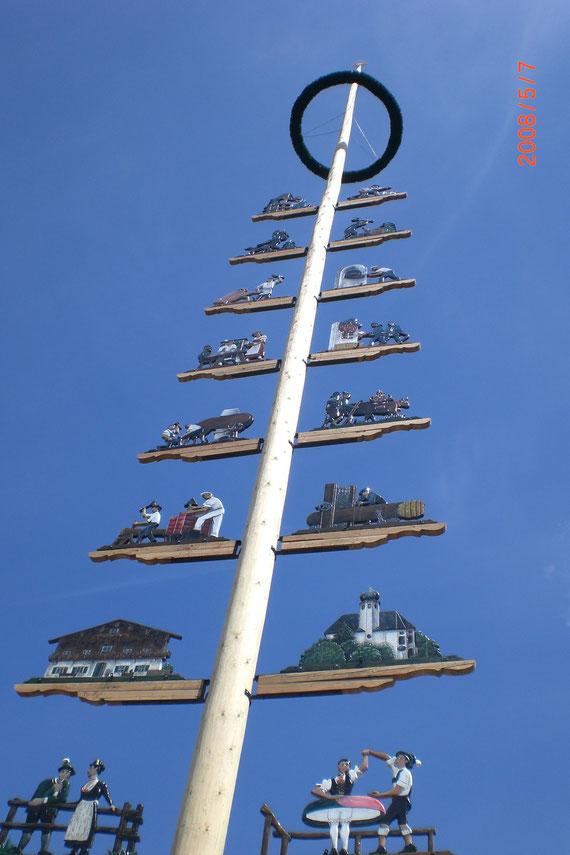 Der Maibaum in Sachrang