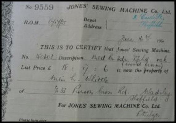Bill of Sale - Jones # 150.303 MEDIUM CS - (June 16th 1930)
