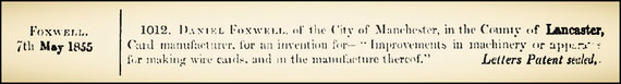 GB 1.012 May 7, 1855