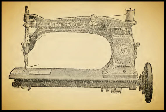 W&W No. D 10  - The Sewing Machine Gazette 1886