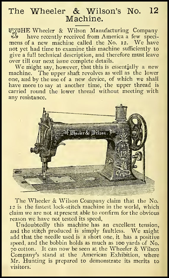 1887 The Sewing Machine Gazette
