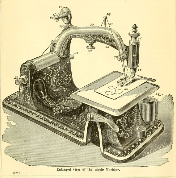 ELLIPTIC SEWING MACHINE COMPANY Fiddlebase Magnificent Arch Sewing Machine Co Philadelphia Pa