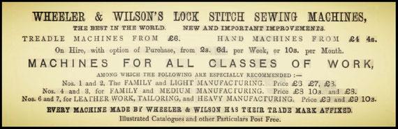 Advertisement  November 1878