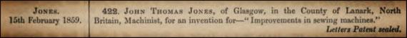 February 15, 1859 Patent