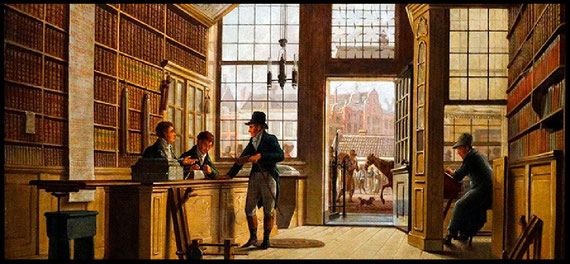 The Bookshop by Johannes Jeigerhuis, 1820