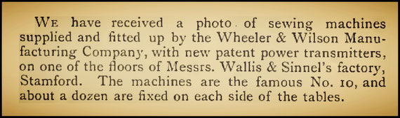 W&W No. 10 - The Sewing Machine Gazette 1885