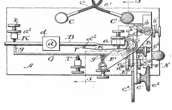 """Brevetto con evoluzione e semplificazione del Mecograph No.03 denominato """"Coust Reduce"""" ."""