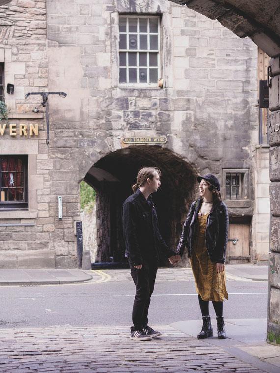 prewedding urban shoot edinburgh