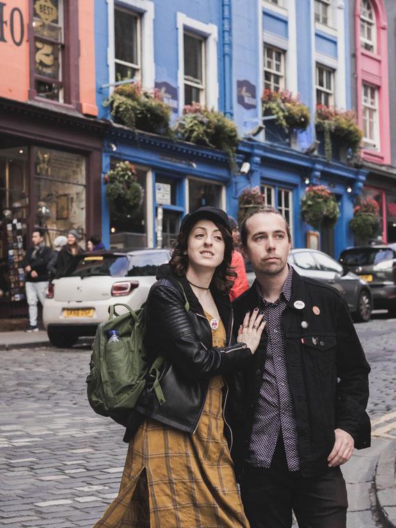 urban edinburgh engagement photography