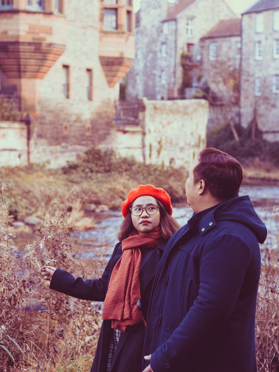 engagement photography edinburgh dean village