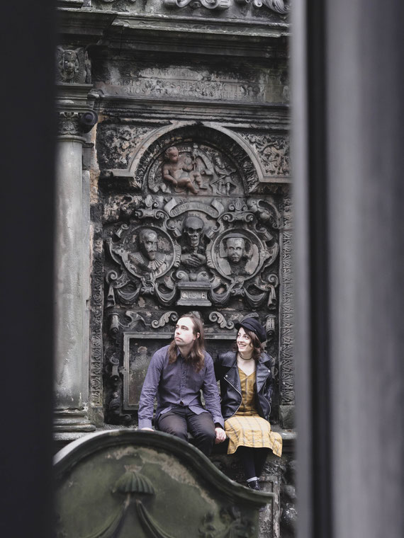 alternative prewedding shoot edinburgh