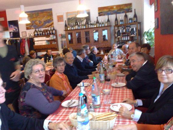 Il gruppo Alpini Torino Stura e Simpatizzanti al Pranzo del 4 Novembre