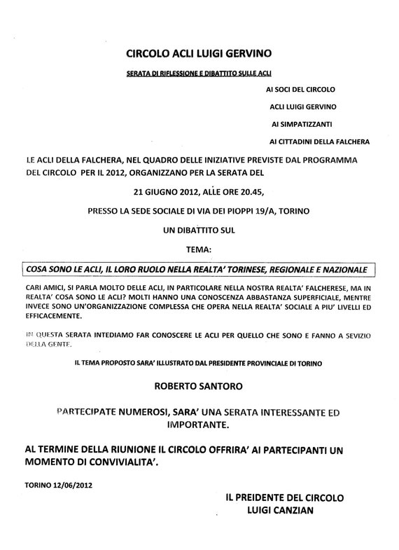 Incontro direttivo Acli con Santoro
