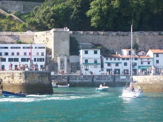 Entrée du port de San Sébastien