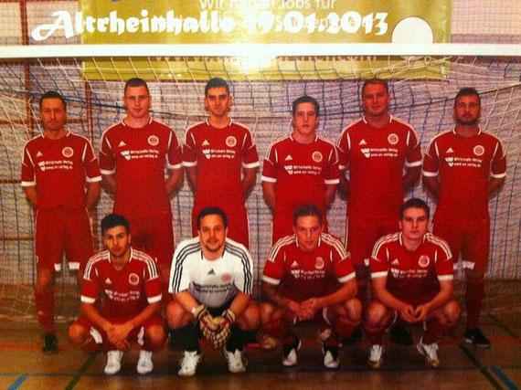 stehend v.l. Trainer A. Kuntz, K. Kiefel, M. Milenkovic, A. Reimers, M. Jelsch, P. Langohr, sitzend v.l. Ö.Cakici, M. Reimers, S. Kaiser, M. Dörsam