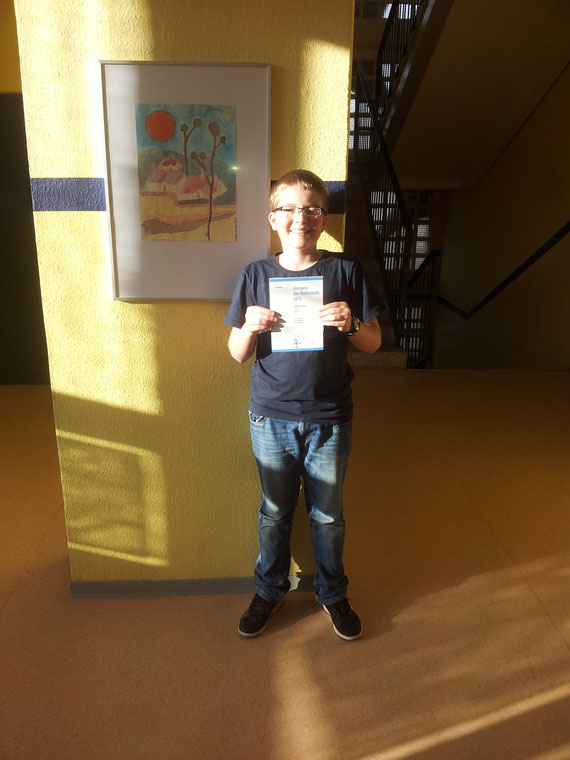 Benjamin Kriening: Preisträger (bestes Ergebnis der Schule)