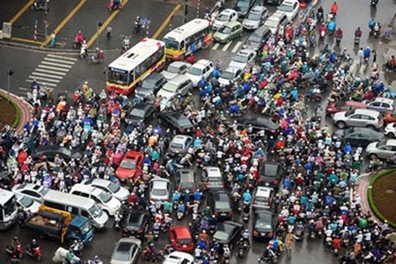 Straßenverkehr in Saigon