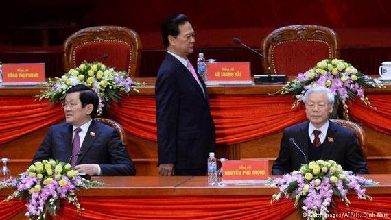 Der wiedergewählte Parteichef Nguyen Tan Dung