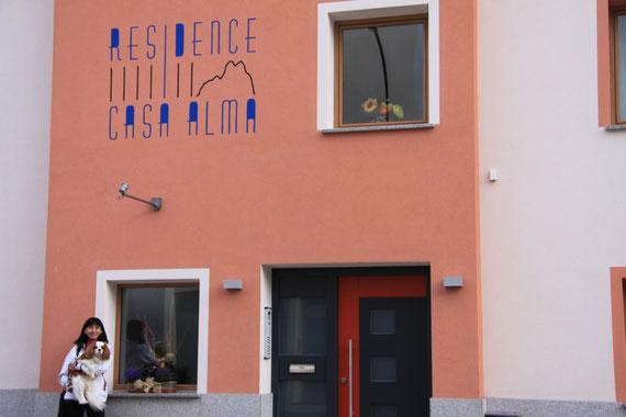 cliccate sulla foto per andare al sito del residence Casa Alma