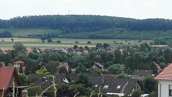 Blick vom Birken- auf den Rotenberg                                        (Foto: G. Lüer)