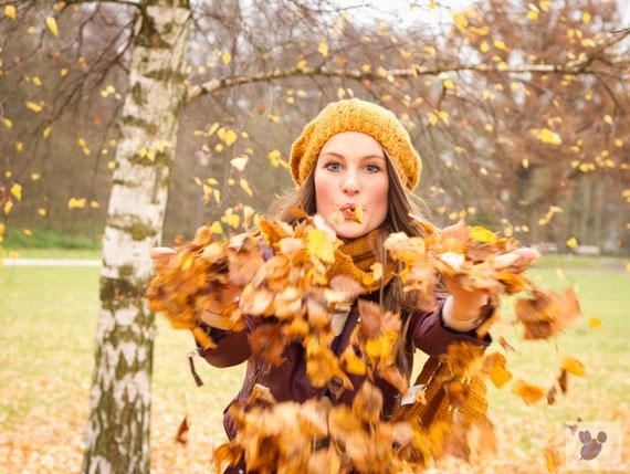 Herbst, Herbstfotografie, Fotografie, Hochzeit, Hochzeitsfotografie, Blätter, Laub, Sabine Lange, Biene-Photoart