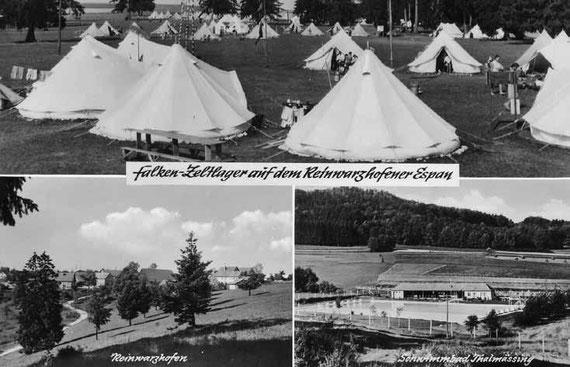 Erste Ansichtskarte des Zeltlagerplatzes 1959