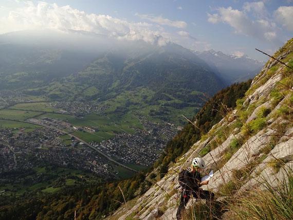 Gonzen, a Guats Gfühl, klettern Mehrseillängen, Rheintal