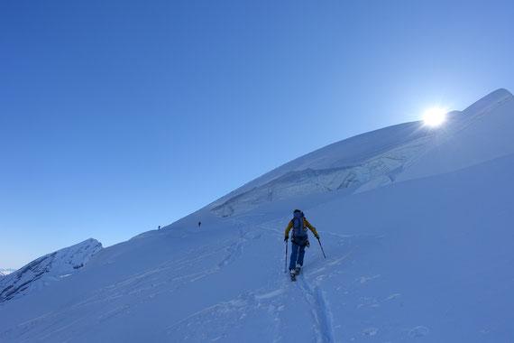 doldenhorn, Skitour, Skihochtour, Kandersteg, Tagestour, Gletscherspalte, Spalte, Spaltenzone