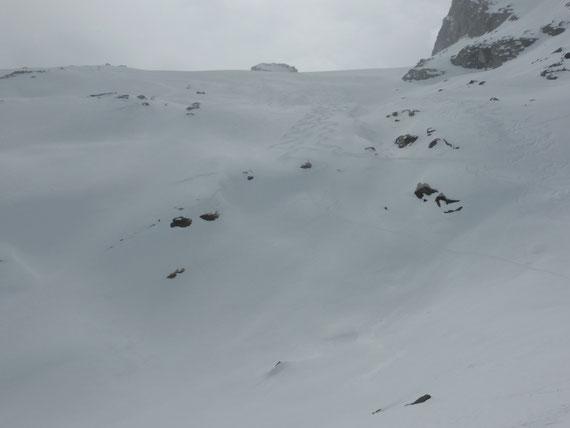 Skitour Piz Fora, Abfahrt Vadret dal Güx