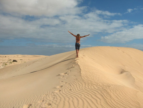 The famous dunes in Fuerteventura