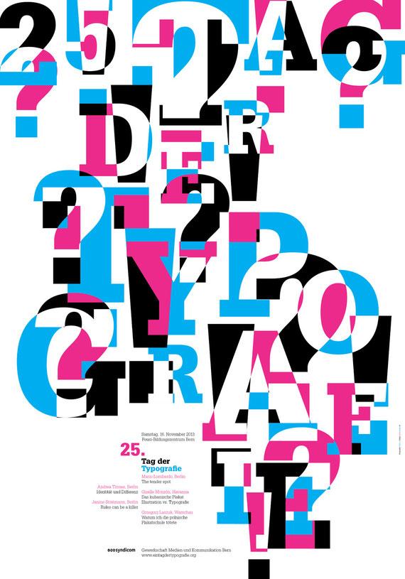 "Plakatdesign ""Tag der Typografie 2013"" | Lockedesign 2013"