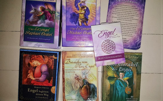 Ich liebe Engel-Kartensets!
