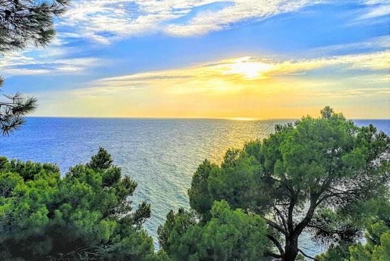 Das war mein alltäglicher Ausblick auf´s Meer...