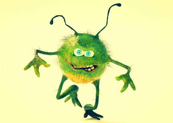 Sind die bösen Viren an allem schuld? (Foto: ©iStock.com/DoodleDance-ID:146797242)