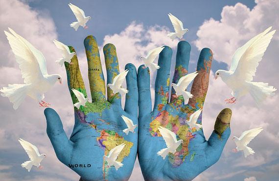 """Frieden weltweit - eine Utopie? (Foto pixabay.com - vielen Dank an """"pixel2013)"""