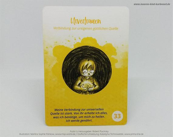 Das Urvertrauen wird oft schon in jungen Jahren erschüttert, deshalb passend zum Thema: Eine Karte aus meinem Inneren Kind Kartenset...