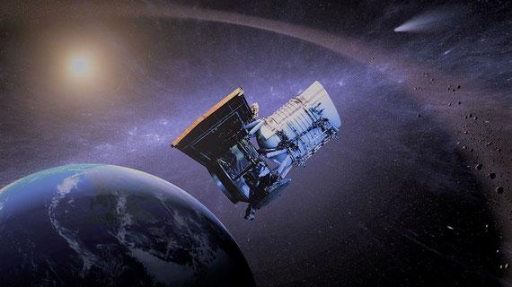 """Die Vorstellung, wie ein Satellit um die Erde zu kreisen... (Foto: pixabay.com / """"saksimpl"""")"""