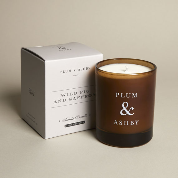 Plum & Ashby wild fig and saffron natural organic handmadecandle