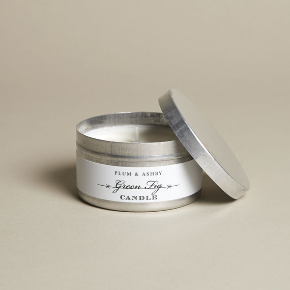 Plum & Ashby natural sutainable Green Fig tin candle
