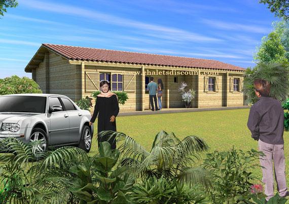 Maison bois 104m²