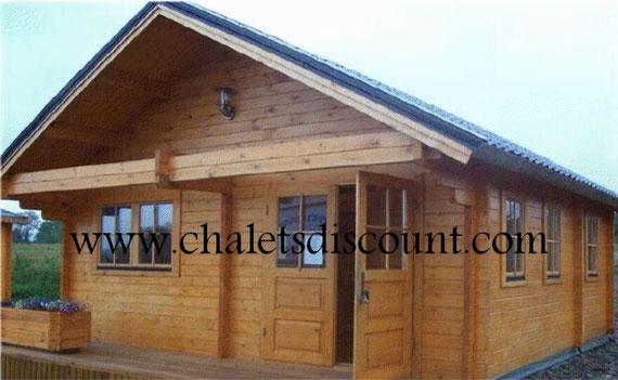 Chalet en kit 34 m vente de chalet en kit maison bois en kit - Chalet bois discount ...