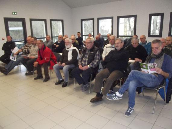 L' assistance  à l 'Assemblée Générale de Cuxac Cabardès le 1 février 2020