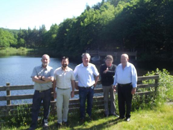 de gauche à droite:Guy Masson, David Fernandez,Paul Griffe,Jean Boussaguet,& Alain Lacanal